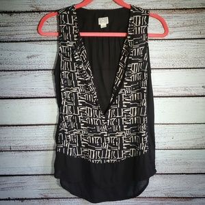 Converse Dressy Athletic Tank Blouse Size Small